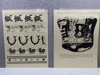 lot of 2 Ancient South American Art   Offset lithography Prints   No Frames   24  x 18