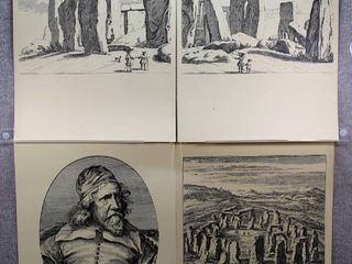 lot of 4 Stonehenge   Offset lithography Prints   No Frames   24  x 18