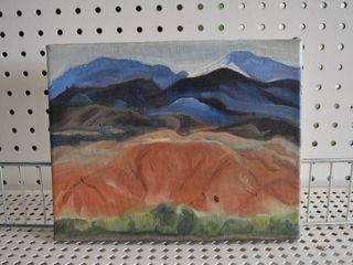 Mountains   Acrylic on Canvas   No Frame   7 75  x 10