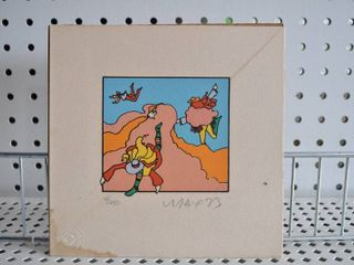 Playing in Clouds   Serigraph   Peter Max   No Frame   7  x 7