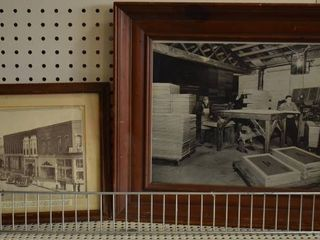 lot of 2 Day in the life   Print and Photo   Vintage Wood Frames   10 25  x 13  16  x 19
