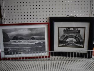 lot of 2 Black and White   Photography   Tom Steele   Metal and Plastic Frames   13  x 14  11  x 16