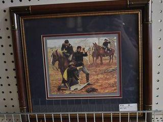 The Staff Ride   Art Print   Don Stivers   Wood Frame   14  x 15