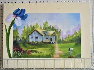 Cottage   Acrylic on Canvas   Doyle Dyer   No Frame   18  x 24
