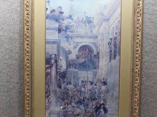 Spring 1894   Print   Sir lawrence Alma Tadema   Gold tone Frame   43 5  x 24