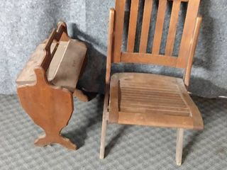wooden fold out chair wooden magazine rack