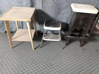 small table step stool homemade bar stool