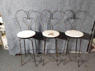 set of three matching bar stools