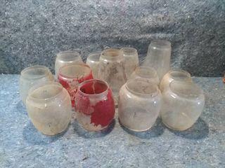 Dozen Vintage Glass lamp or lantern Globes