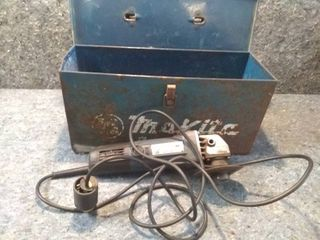 Chicago Electric Angle Grinder and Toolbox