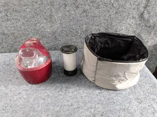 food mixer and battery powered lantern