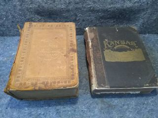 Antique 1916 Webster s New International Dictionary and Kansas Book