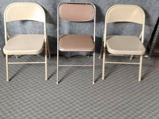 three nice fold out chairs
