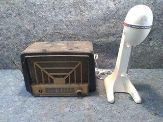 Vintage Westinghouse Tube Radio and Hamilton Beach Drink Mixer