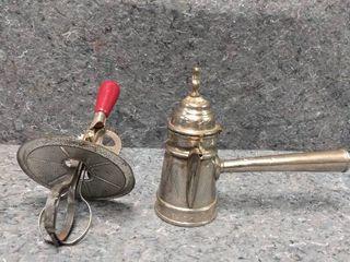 vintage blender or mixer and vintage teapot