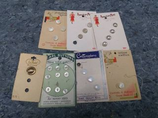 lot of Vintage Pearl Buttons