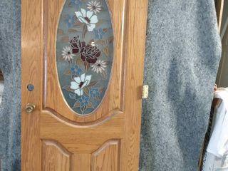 solid core exterior wood door