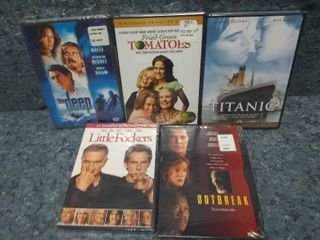 lot of 5 New Sealed DVD Movies