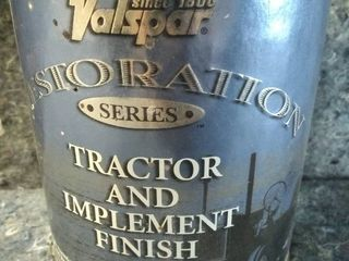 1 Quart Valspar JD Yellow Tractor and Implement Finish 3341   Restoration Series