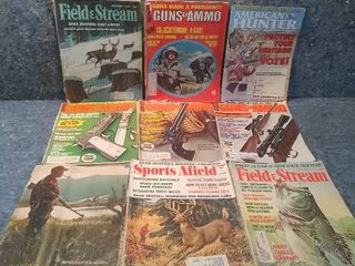 lot of 9 Vintage Outdoor Sports Magazines From the 60s and 70s