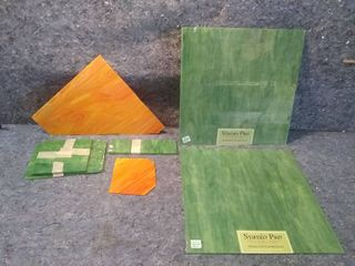 Stained Glass lot   Included Two New 1ft Squares and Assorted Usable Scrap