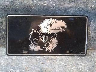 KU Jayhawks license Plate