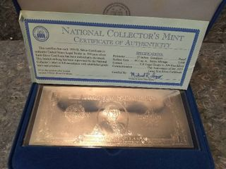 US National Collector s Mint 1999  1 Silver Certificate