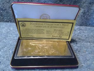 US National Collector s Mint 2001  2 Gold Certificate