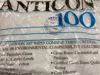 Milliken   Anticon100 Wipes   For Class 100 Environments