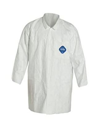 DuPont Personal Protection   Tyvek lab Coat   Size Xl   White   30 Per Box
