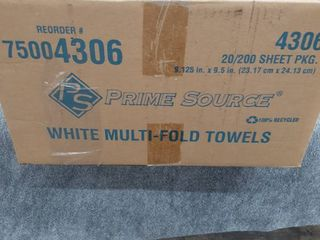 Prime Source 4306 20x200 Sheet Multi Fold Paper Towel Case