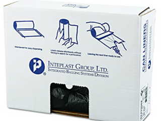 Interplast Group   Black Can liners   25 Bags Roll 4 Rolls Case  One Case Per lot
