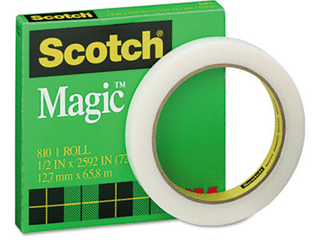 lot of 3   Scotch Magic Tape  1 2 inch x 72 Yards  Boxed
