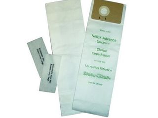 Package of 10   Green Klean CarpetMaster Replacement Vacuum Bag and Filter  8  length x 3  Width x 11  Height  2 Ply Paper