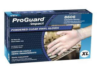 ProGuard  PGD8606Xl  General purpose Disposable Vinyl Gloves  100 per Box  Clear  lots of 3 Boxes