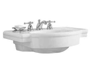 American Standard 0282 008 020 Retrospect Pedestal Console Sink Top with 8 Inch Faucet Spacing  White