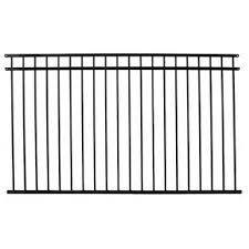 2   Black Fence Panels   Mismatched Set