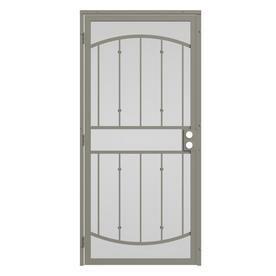 Gatehouse Gibraltar Almond Steel Security Door  Common  32 in x 81 in  Actual  35 in x 81 in