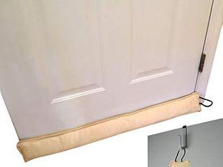Evelots Draft Stopper Door Window New with Door Hook Stop Cold Air 3 Feet Set 2