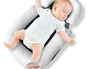 Baby Nest Original Baby lounger Baby Pillow Portable Bassinet Baby Bed Baby Cocoon Travel Crib Co Sleeping Newborn lounger Infant Bassinet Newborn Nest Baby Sleep Baby Head Support Pillow