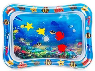Tummy Time Water Play Mat  7 Upgrade  New  Inflatable Infant Baby Toys   Toddlers Fun Activity Play Center for Boy   Girl Growth Brain Development BPA Free Baby Toys for 3 12 Months  26 x 20