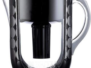 Brita large 10 Cup Water Filter Pitcher with 1 Standard Filter  BPA Free   Grand  Black Bubbles