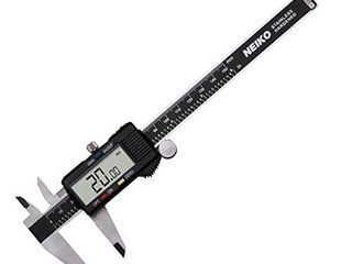 Neiko 01407A Electronic Digital Caliper Stainless Steel Body with large lCD Screen   0   6 Inches   Inch Fractions Millimeter Conversion Silver Black