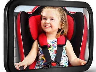 Baby Car Mirror  DARVIQS Car Seat Mirror  Safely Monitor Infant Child in Rear Facing Car Seat  Wide View Shatterproof Adjustable Acrylic 360Afor Backseat  Crash Tested and Certified for Safety