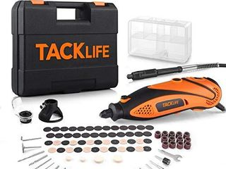 TACKlIFE Rotary Tool Kit with MultiPro Keyless Chuck and Flex Shaft  Versatile Accessories and 4 Attachments and Carrying Case  Multi functional for Around the House and Crafting Projects RTD35ACl