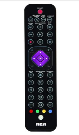 RCA RCRTBl04BE 4 Device Universal Ultra Slim Remote Control