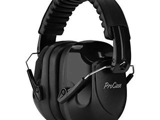 ProCase Noise Reduction Ear Muffs  NRR 28dB Shooters Hearing Protection Headphones Headset  Professional Noise Cancelling Ear Defenders for Construction Work Shooting Range Hunting  Black