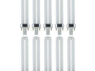 Pack of 10 Sunlite 9W Pl 2Pin Single UShaped Twin Tube G23 Plugin 3500K Neutral White Bulb