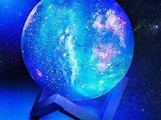 toyuugo Moon lamp  5 9 Inch  Star light Kids Night light Galaxy lamp 16 Colors lED 3D Star lamp with Wood Stand  Touch   Remote Control   USB Rechargeable Baby light Gift for Girls lover Christmas