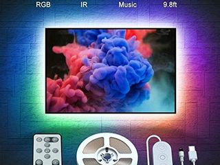 Govee TV Backlights  9 8FT RGB TV lED Strip lights with Remote  Music Sync TV lED Backlights with 32 Colors Multi Scene Modes  lED lights for 46 60 inch TVs Desktop Monitor  USB Powered